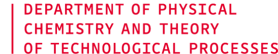 Department of Physical Chemistry and Theory of Technological Processes