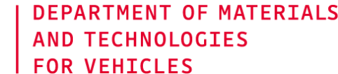 Department of Materials and Technologies for Vehicles